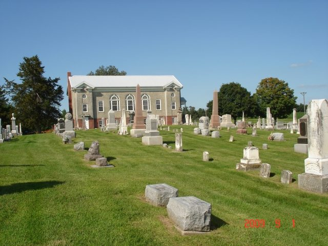 Church with North Cemetery in foreground - - - looking North